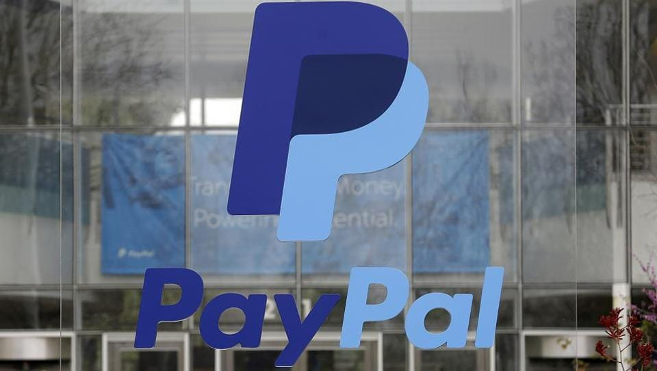 This March 10, 2015, file photo shows signage outside PayPal headquarters in San Jose, Calif.