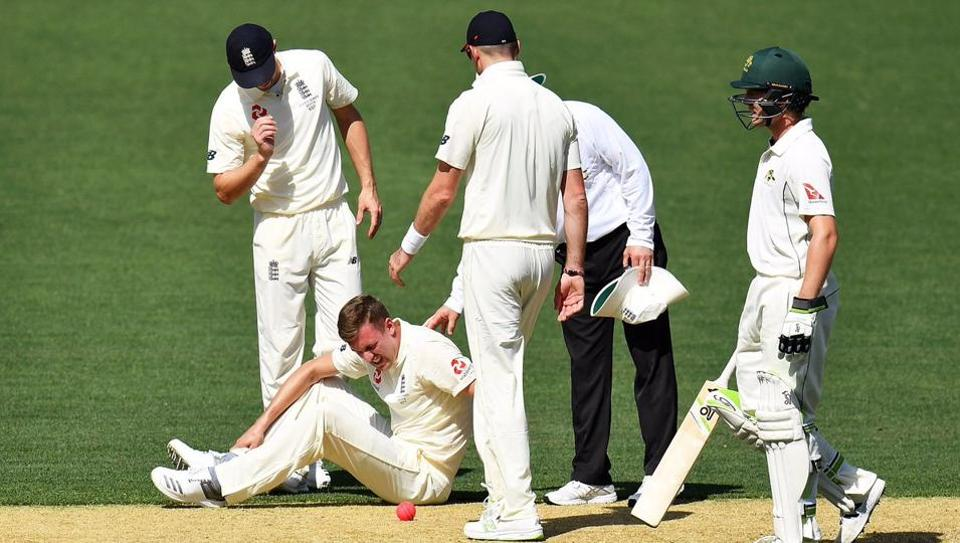 England's Jake Ball limped off at the Adelaide Oval just a couple of days after Steven Finn was ruled out of the Ashes.
