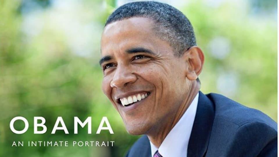 The cover of Pete Souza's book 'Obama: An Intimate Portrait showcase'.