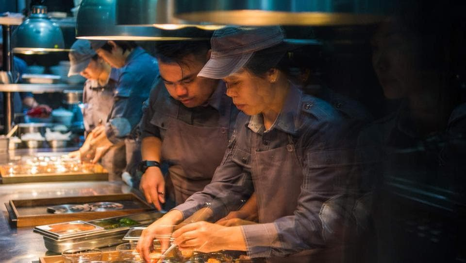 Ultraviolet was more than two decades in the making, Pairet explains. Its continued success, five years after it first opened, is testament to Shanghai's burgeoning food scene -- Michelin launched a dedicated guide for the city in 2016 -- the only one in mainland China. (Chandan Khanna / AFP)
