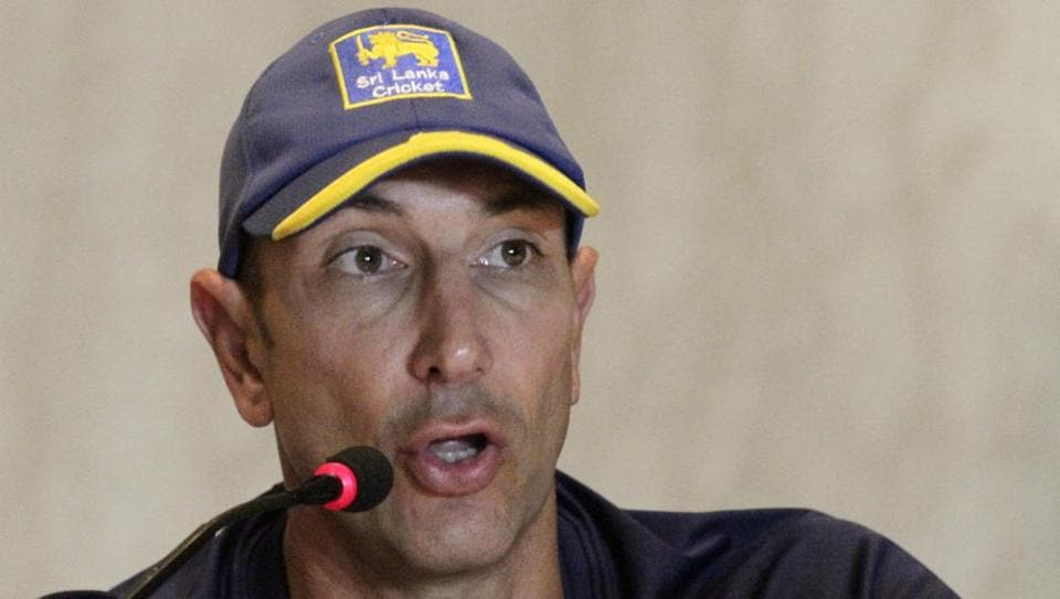 Sri Lanka head coach Nic Pothas attends an arrival press conference prior to their cricket series against India. Sri Lanka will play a warm-up game, three Tests, three ODIs and as many T20s against Virat Kohli's men, starting November 11.