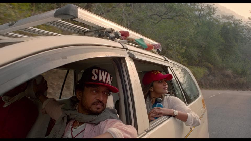 Irrfan Khan and Parvathy in a still from the latest song of Qarib Qarib Singlle.