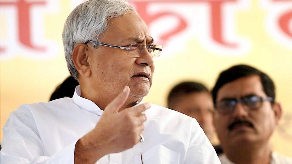 Bihar Chief Minister Nitish Kumar in Gaya on October 18, 2017.