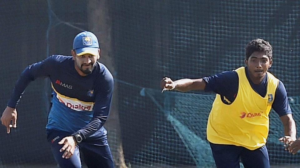 Sri Lankan cricketers play football during a practice session in Kolkata on Thursday.  (PTI)