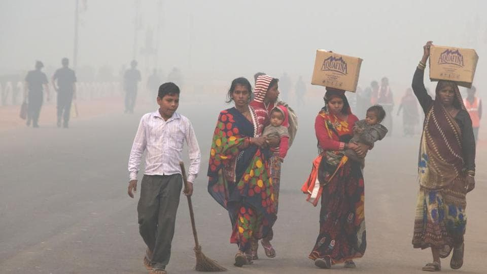Delhi smog,Delhi pollution level,Delhi odd even