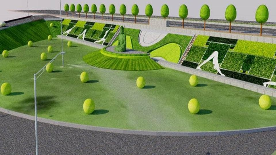 An artist's impression of the park.