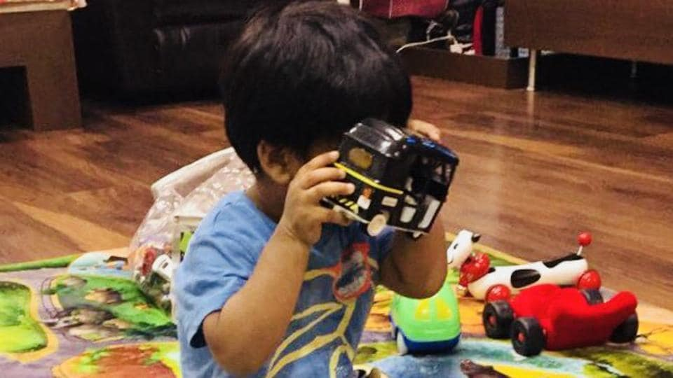 Soundarya Rajinikanth shared a picture of her son on Twitter.