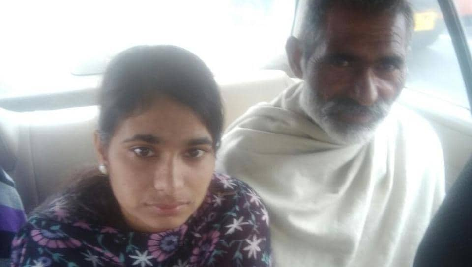 Reena Kaur, 21, was flown back from the Gulf nation and arrived in Delhi on Friday morning.