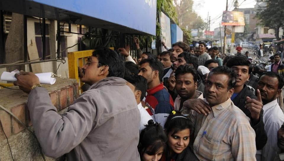 The demonetisation drive resulted in people across the country queueing up at banks to deposit their old currency notes.