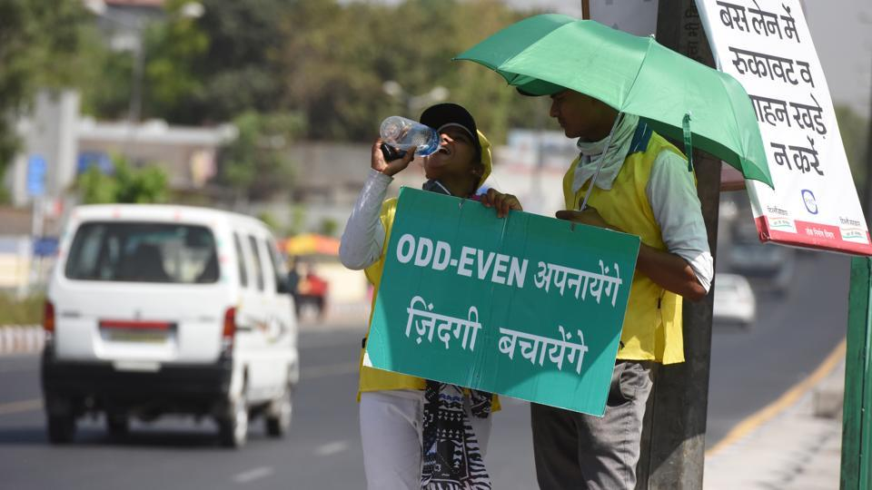 The odd-even vehicle rationing scheme will kick in in Delhi on Monday.