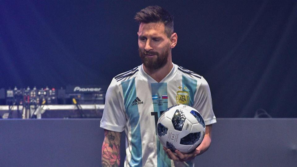 Lionel Messi unveiled the official ball that will be used in the 2018 FIFAWorld Cup during an official function in Moscow.