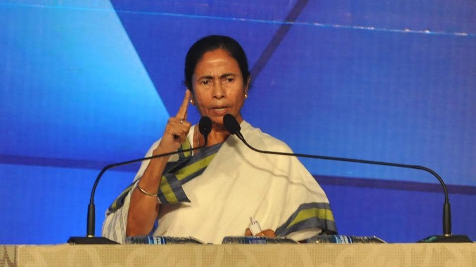 West Bengal chief minister Mamata Banerjee addresses the gathering during the inauguration of the 23rd Kolkata International Film Festival in Kolkata on Friday.