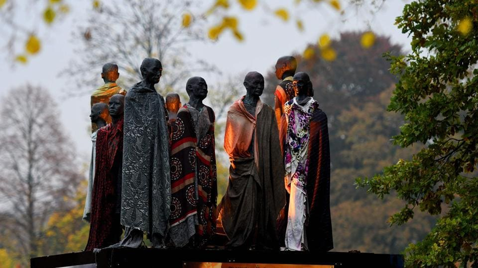 Another sculpture featuring climate refugees created by Jens Galschiot is seen at Rheinaue Park during the COP23 in Germany. The latest round of the UN-led climate talks opened on Monday in the German city of Bonn with delegates from almost 200 countries in attendance. (Patrik Stollarz / AFP)
