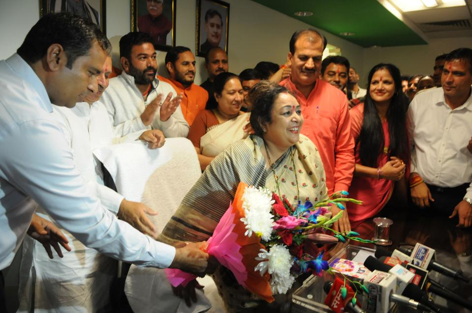 MCG Mayor Madhu Azad took charge of the civic body on Friday.