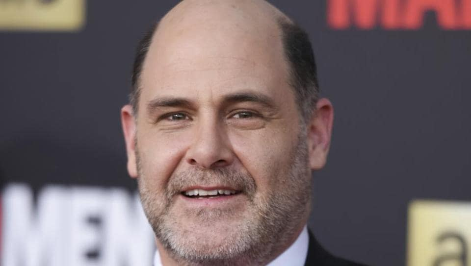 Matthew Weiner arrives at The Black And Red Ball In Celebration Of The Final Seven Episodes Of Mad Men in Los Angeles.