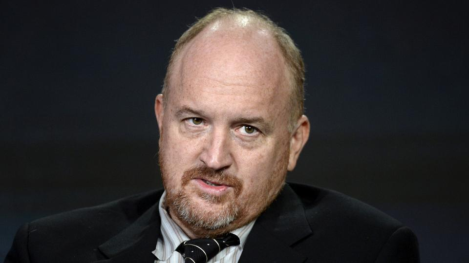Executive producer Louis CK participates in a panel for the FX Networks series Baskets during the Television Critics Association (TCA) Cable Winter Press Tour in Pasadena.