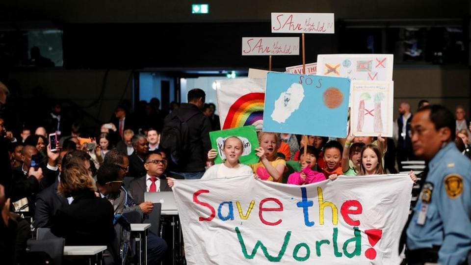 Children take part in a climate march prior to the opening session of the COP23 UN Climate Change Conference 2017, hosted by Fiji but held in Bonn, Germany. Over the next two weeks, negotiators will try to clarify the rulebook of the 2015 Paris climate agreement, reports the BBC. (Wolfgang Rattay / REUTERS)