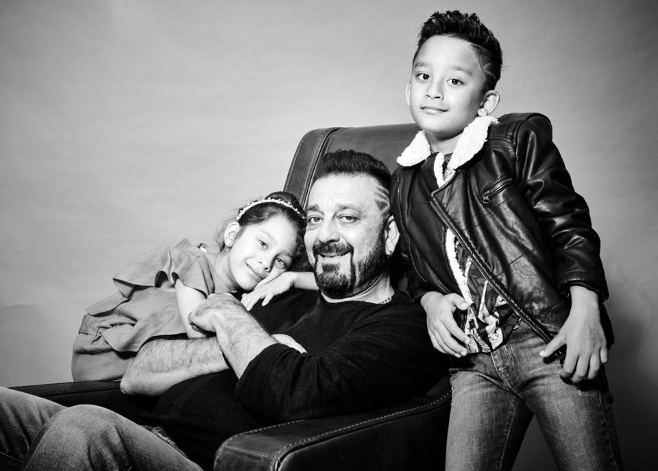 "Although Dutt tries his best to  keep a balance between the two,  he admits he has a tiny bias towards Iqra. "" I think dads are always a bit more fond of their daughters. I don't ever do that consciously, but Manyaata keeps pointing that out!"" he reveals (Prabhat Shetty)"