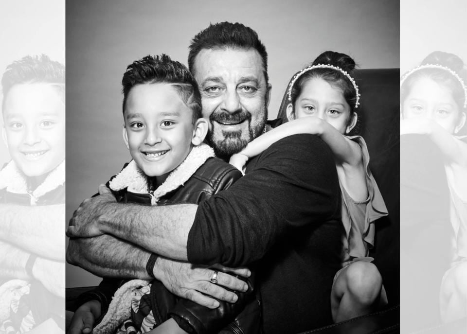 "Dutt tries not to spoil the kids too much and makes sure when his wife, Maanayata, is scolding them he doesn't play the  peace broker . ""But yes after two three hours, it is dad who might get them a box of chocolates,"" he laughs (Prabhat Shetty)"