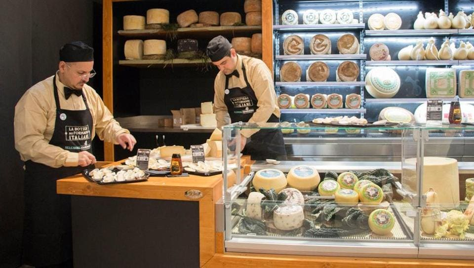 The milk plant at FICO Eataly World.