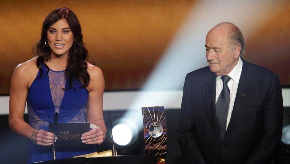 Sepp Blatter,Hope Solo,FIFA