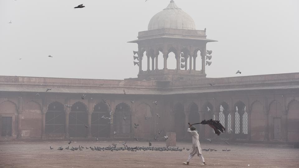 There's hope that the city will start to breathe better by Sunday, until then, like this scene at Jama Masjid, New Delhi will have to decide whether the odd-even drive will set the tone for what needs to be a strict, long lasting change that will stop at nothing to fight air pollution.  (Sanchit Khanna / HT Photo)