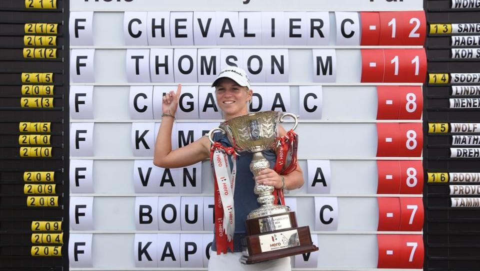 Camille Chevalier won the Women's Indian Open golf tournament in Gurgaon on Sunday.