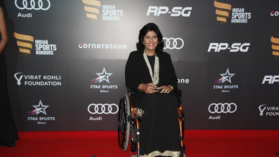Deepa Malik, who won a silver at the 2016 Paralympics, was also present. (HT Photo)