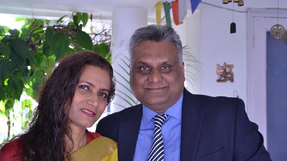 IAS Bhupendra Kaur Aulakh (left) with IPS husband Ajay Anshuman.
