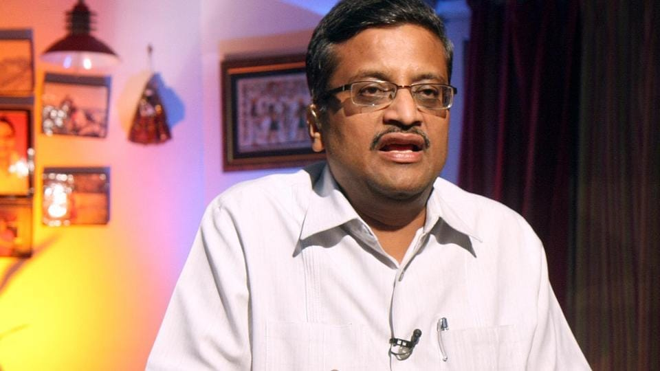 Senior IAS officer Ashok Khemka interacts with the media in Chandigarh.