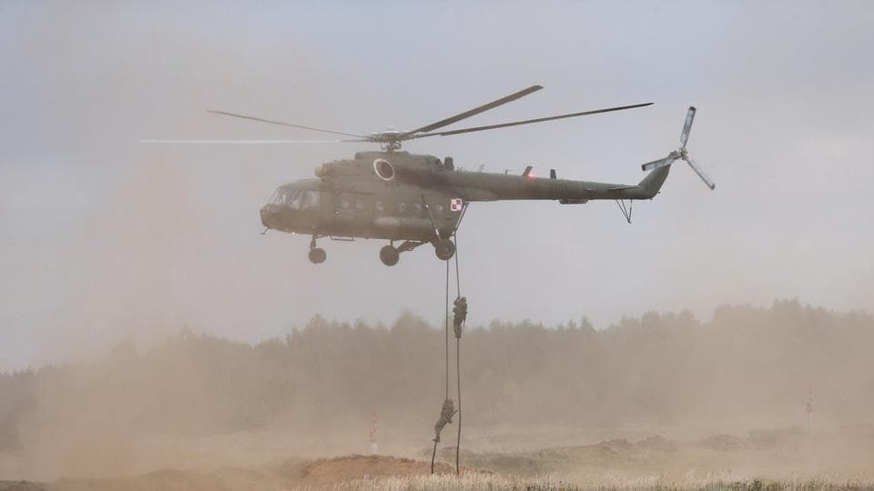 The Russian-made Mi-17 helicopter crashed in the central Wasit province.