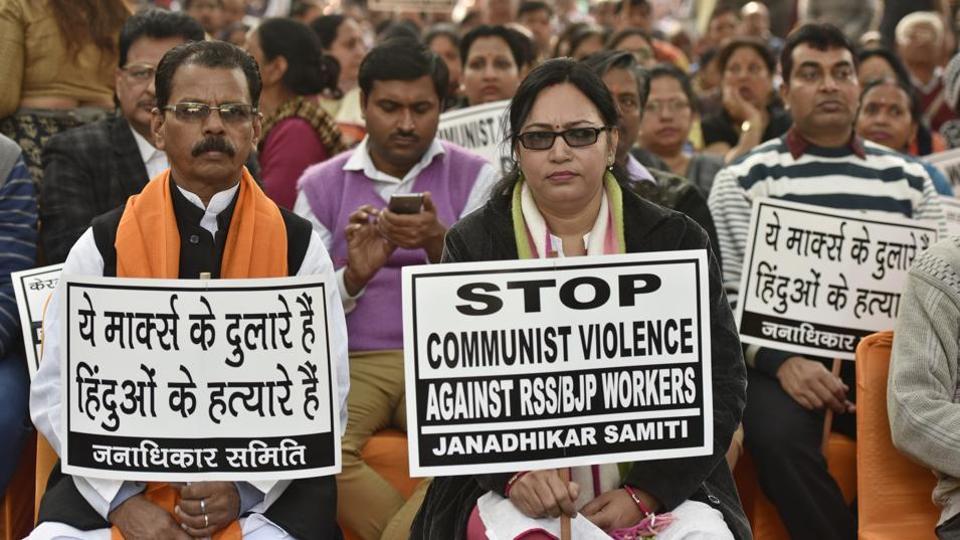 RSS worker,RSS worker killed,Kerala
