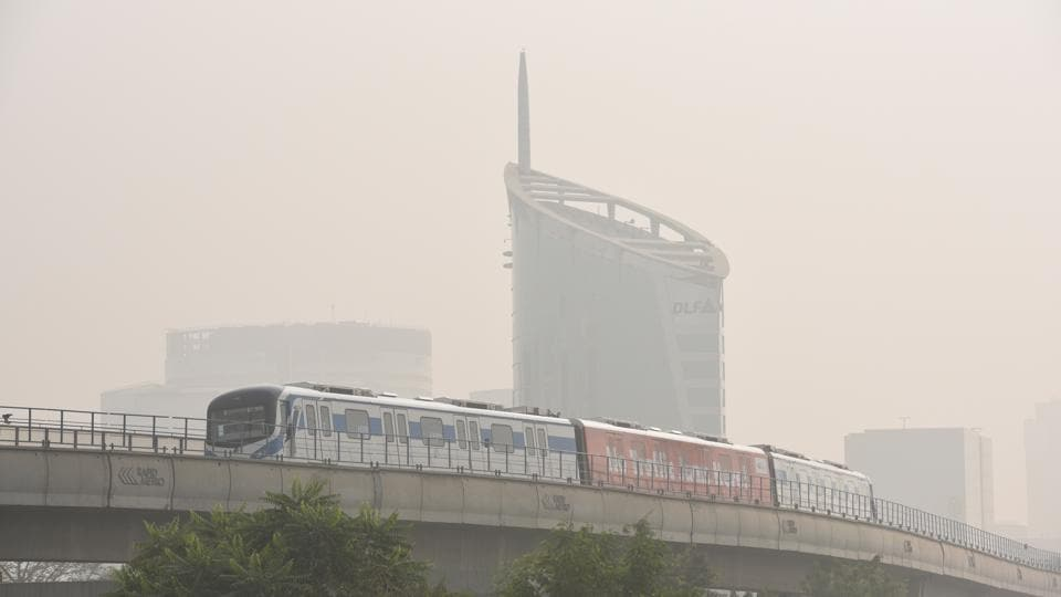 Visibility was reduced to 50 metres on Sunday.