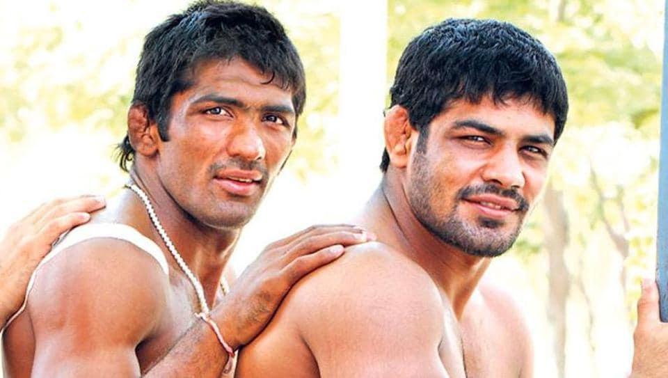 While Yogeshwar Dutt (L) will skip the National Wrestling Championships, Sushil Kumar will make a return to the mat.