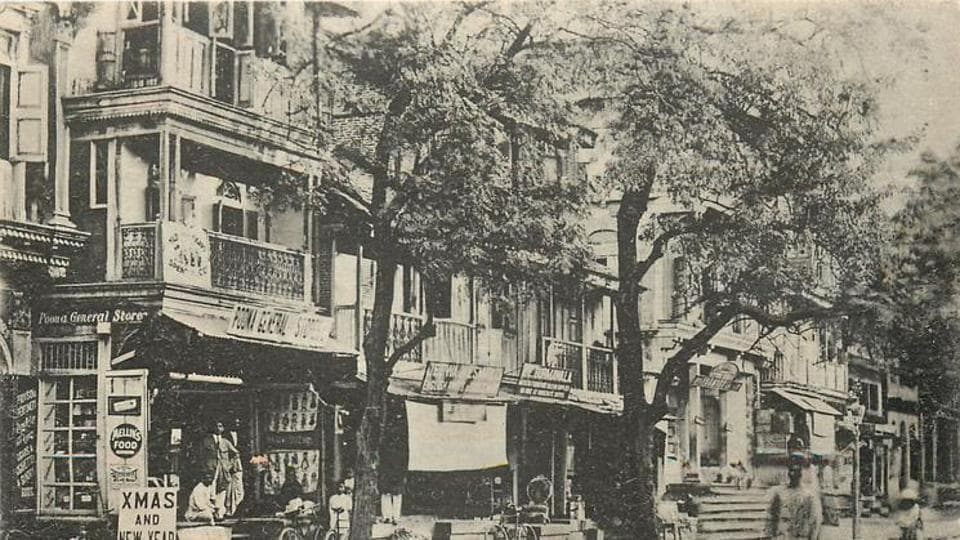 One of Pune's oldest shopping centre on MG Road in the 1960s. (HT PHOTO)
