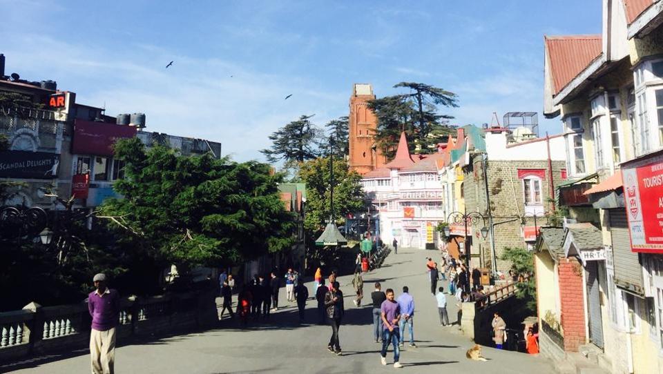 Shimla experienced a clear, sunny day on Monday.