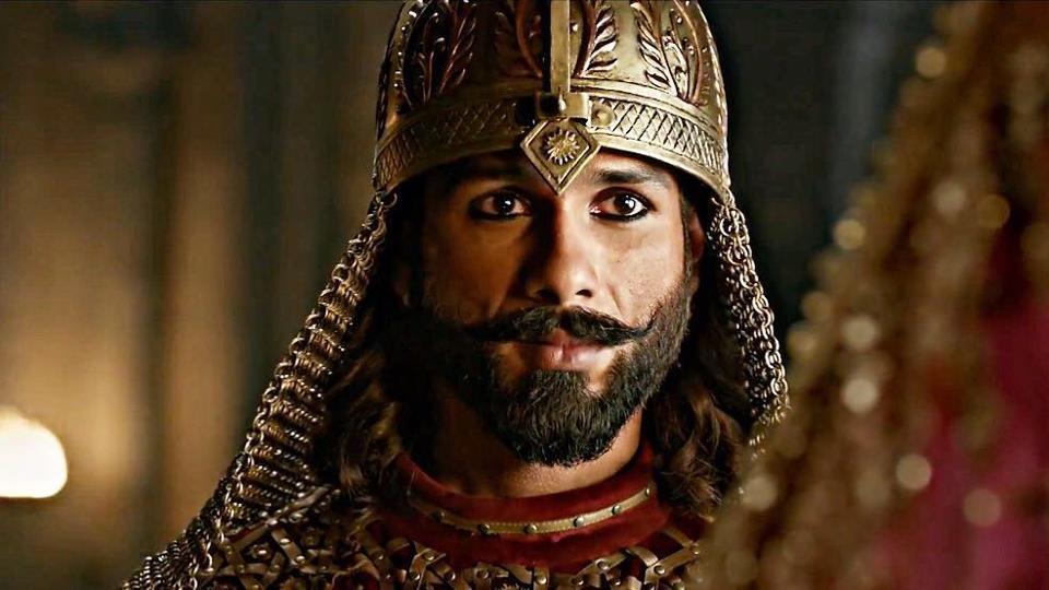 Shahid Kapoor as Maharawal Ratan Singh in Padmavati.