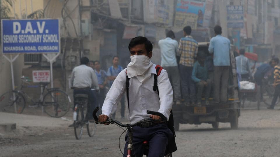 The levels of particulate matter in Delhi-NCR, which shot up nearly eight times above the safe standards on Sunday, dropped to six times above the permissible limit by Monday 8pm.