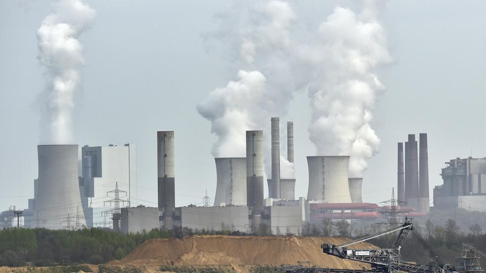 Power plant near the city of Grevenbroich in western Germany on April 3, 2014.