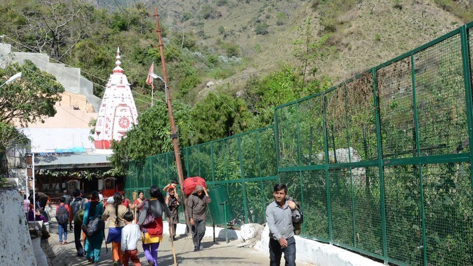 Mata Vaishno Devi shrine atop Trikuta hills in Reasi district of Jammu and Kashmir.