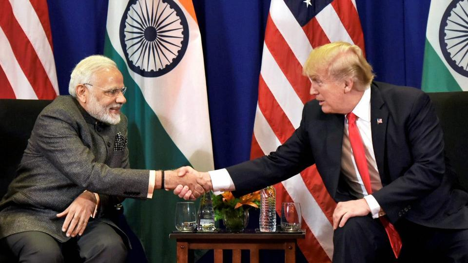 Prime Minister Narendra Modi with US President Donald Trump in Manila, Philippines on Monday.