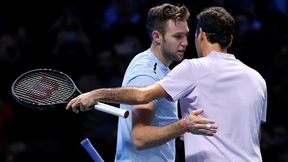 Roger Federer was left embarrassed by Jack Sock's 'cheeky' tactics.