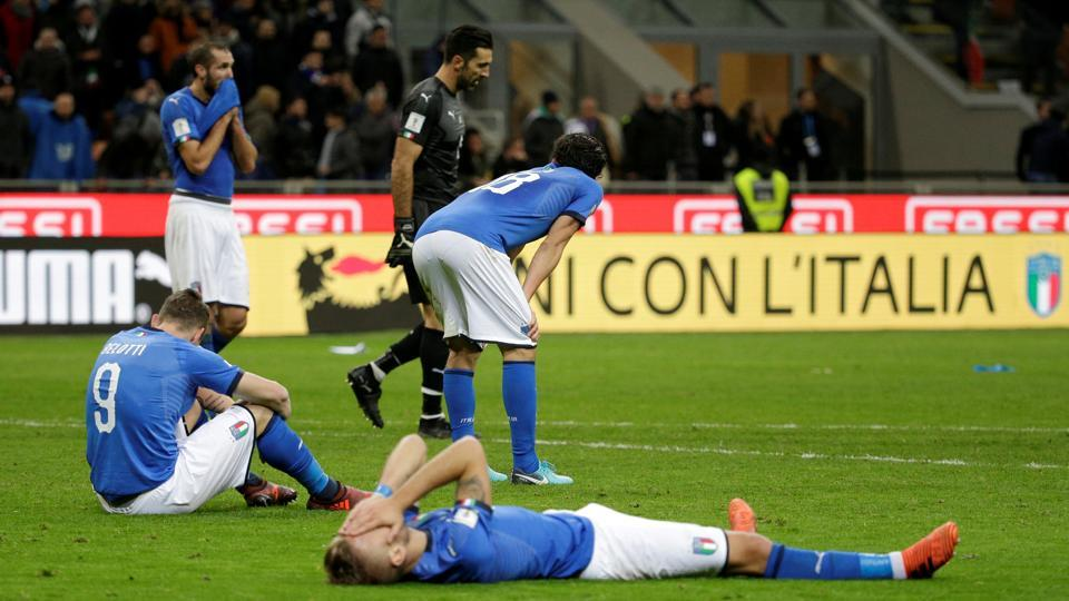 Italy were held to a 0-0 draw by Sweden but lost 0-1 on aggregate as they failed to qualify for the FIFA World Cup since 1958.