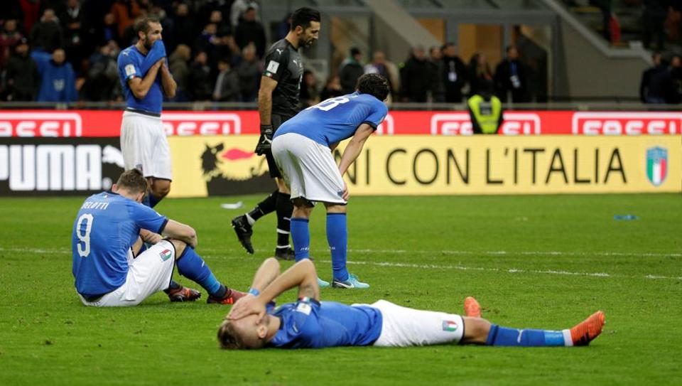 Italy have failed to qualify for the FIFA World Cup for the first time in 60 years.