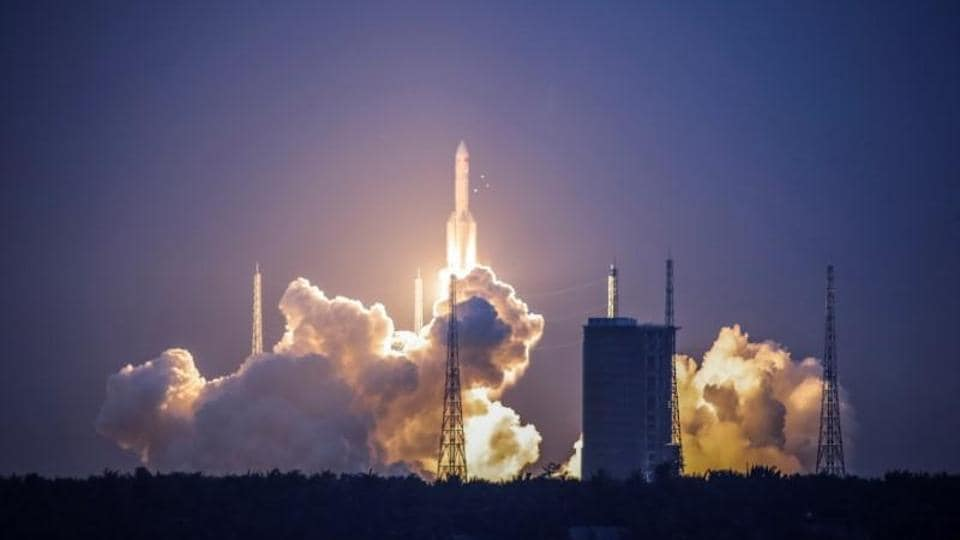 China's Long March-5 Y2 rocket takes off from the Wenchang satellite launch centre in Hainan Province on July 2, 2017.