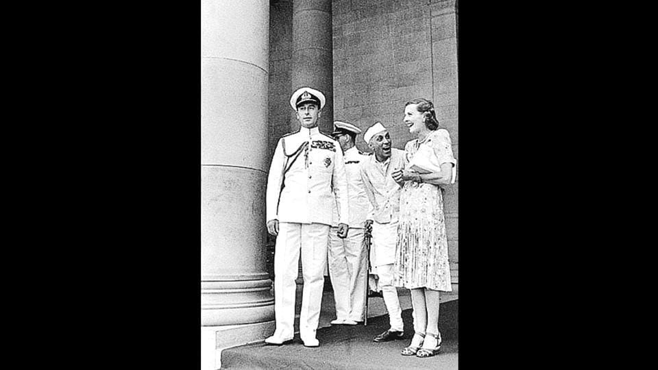 Nehru with Edwina Mountbatten in New Delhi. According to a PTI report about the book, 'Daughter of Empire: Life as a Mountbatten', Pamela writes that her mother Edwina and Nehru shared a 'profound relationship' that bloomed after Edwina arrived in India. (HT Archives)