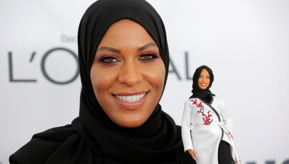 Barbie Doll,Ibtihaj Muhammad,Hijab wearing Barbie