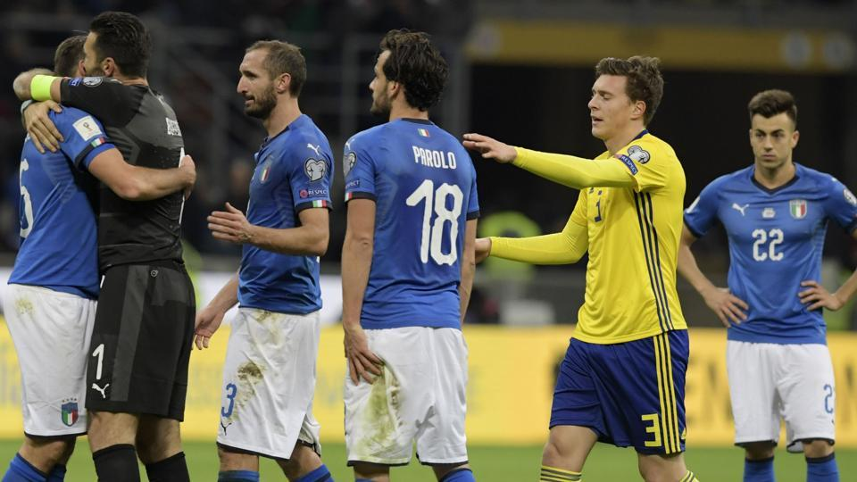 Italy failed to reach the World Cup for the first time since 1958 after the play-off defeat against Sweden.  (AFP)