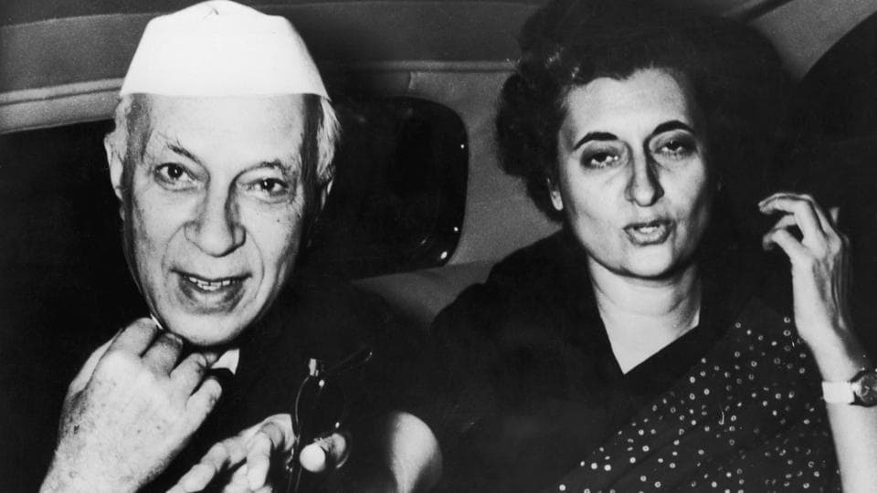 In this undated photo, Indira Gandhi is seen with her father Jawaharlal Nehru. Inspired and motivated by her father's political achievements, Indira later went on to become the only woman Prime Minister of India. (Keystone / Getty Images)