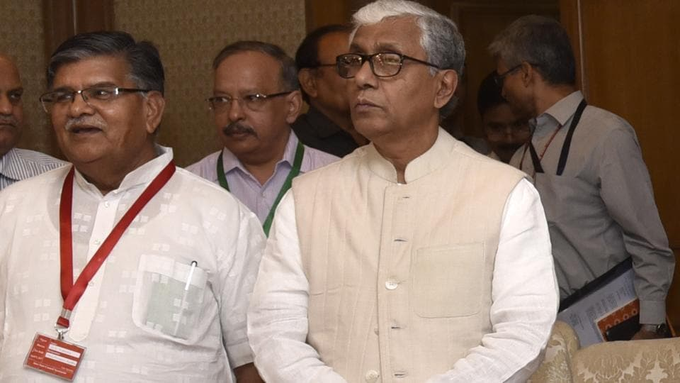Rajasthan Home Minister Gulab Chand Kataria (left) said that the Rajasthan Dharma Swatantraya Bill will help maintain law and order in Rajasthan.